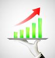 financial charts Stock vector image vector image