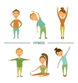 Fitness Cartoon characters vector image vector image