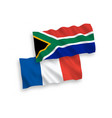 flags france and republic south africa on a vector image vector image