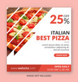 food instagram post template vector image vector image