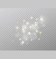 glowing light effect isolated on transparent vector image vector image