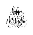 happy birthday - holiday banner black and white vector image