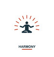 harmony icon premium style design from teamwork vector image vector image