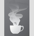 hot coffee with smoke paper cutting art vector image