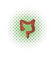 Human colon icon comics style vector image vector image