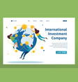 international investment company businessmen fly vector image vector image