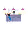 isolated room a bar design vector image