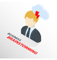 isometric businessman on suit with cloud and arrow vector image vector image