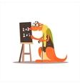 Kangooro Math Teacher vector image