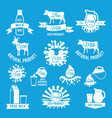 labels set fresh milk vector image vector image