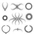 Laurel wreath tattoo set Black abstract stylized vector image vector image