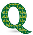 letter q christmas festive font icon vector image vector image