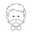 man with mustache design vector image vector image