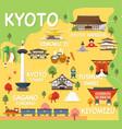 map kyoto vector image vector image