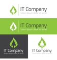 minimalistic it or design studio logo vector image vector image