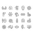 mobilecoronavirus updated icon set collection vector image vector image