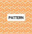 modern white zigzag pattern orange background vect vector image vector image
