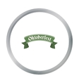 Oktoberfest banner icon in cartoon style isolated vector image vector image