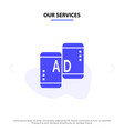 our services advertising mobile mobile vector image vector image