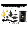 petrol symbols oil black vector image vector image