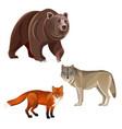 predatory beasts vector image