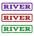 river watermark stamp vector image