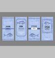 samples fish menu templates decorative frames vector image