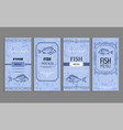 samples of fish menu templates decorative frames vector image