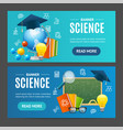 science banner horizontal set vector image