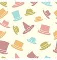 Seamless pattern of hats vector image vector image