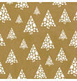 seamless repeat pattern abstract christmas trees vector image vector image