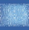 seamless technical pattern blueprint a vector image