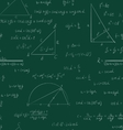 Seamless trigonometry pattern on green vector image
