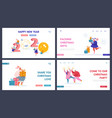 set landing pages web design banner mobile vector image vector image