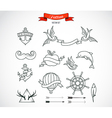 set modern tattoo art vector image