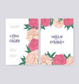 set of beautiful wedding invitation or save the vector image vector image