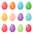 set painted easter eggs vector image