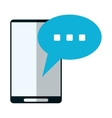 smartphone bubble speech conversation vector image