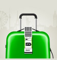 sticky baggage label with jfk new york airport vector image