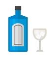 Tequila bottle vector image vector image