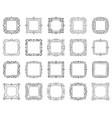 text square frame simple black line set vector image