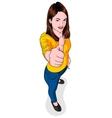 Thumb Girl vector image