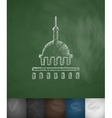 United States Capitol icon Hand drawn vector image vector image