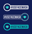 use face mask prevention covid-19 icon sticker vector image
