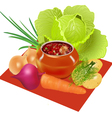 Vegetables Pot vector image vector image