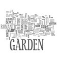 why add decor to your garden text word cloud vector image vector image