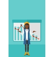 Woman with decreasing chart vector image vector image