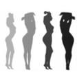 womans shadows set vector image vector image