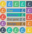 fishing icon sign Set of twenty colored flat round vector image