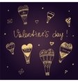 Valentine Day I love you typography vector image